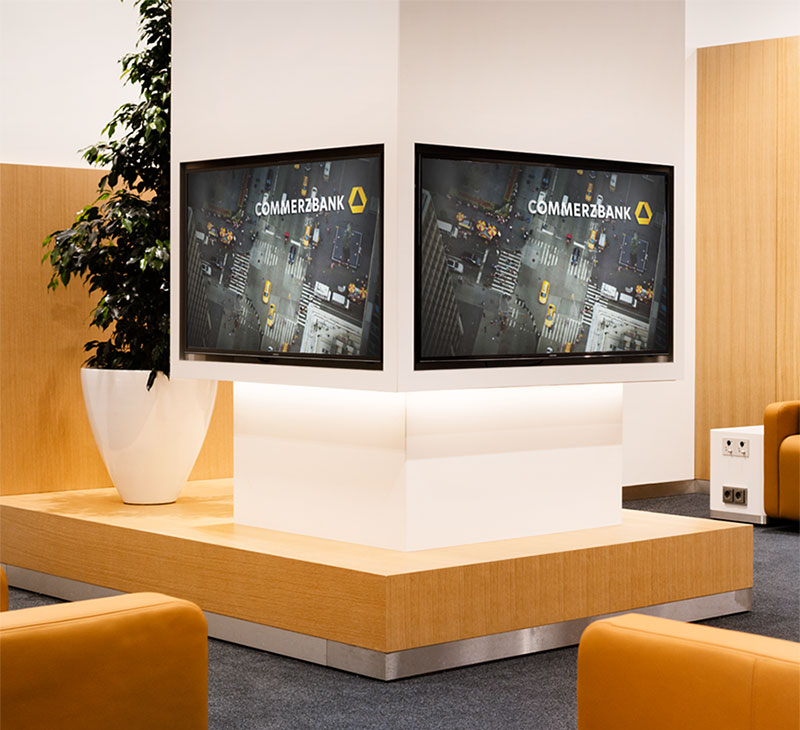 Lufthansa Group Medien - Lounge Screens